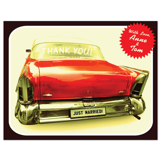 thank you cards - Thank You Car(d) by Fred Designs