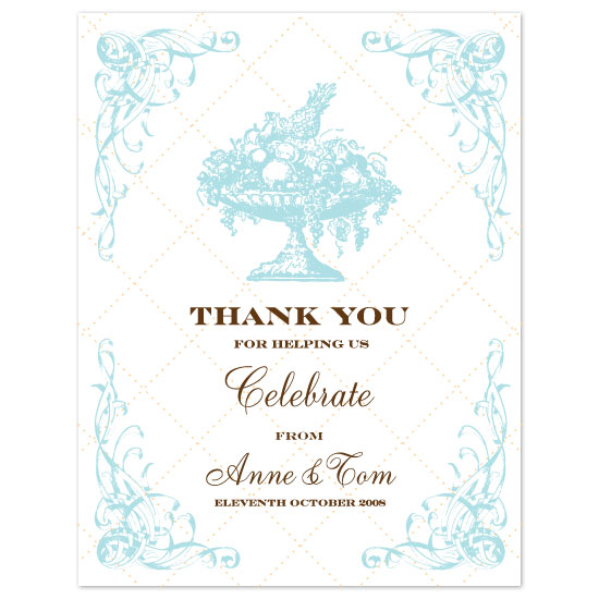 thank you cards - Italian Menu by Kate Noble Design