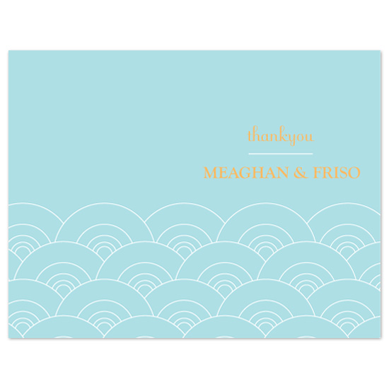 thank you cards - Chic Waves by Kate Noble Design