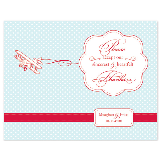 thank you cards - Come fly with me by Chamelle Designs