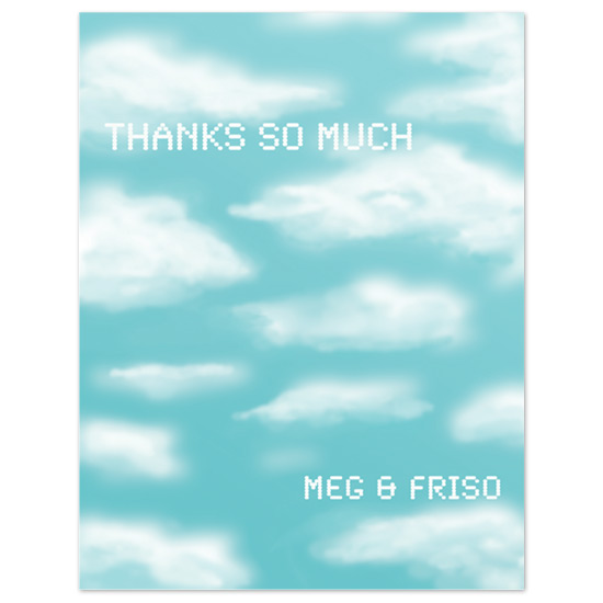 thank you cards - Clear Skies by Ri.S.K./Little Yeti