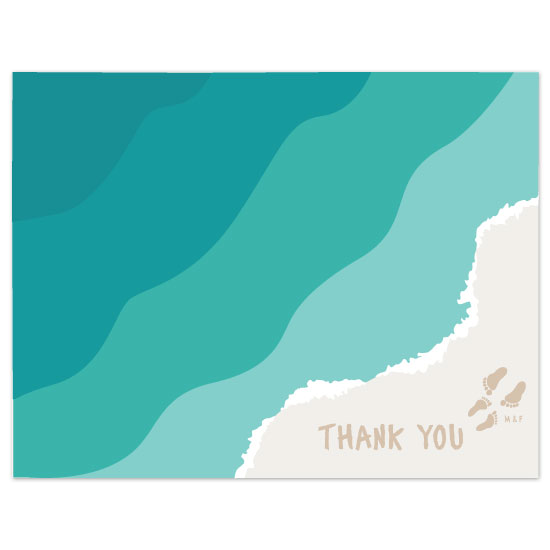 thank you cards - sand by Puppy Love Design
