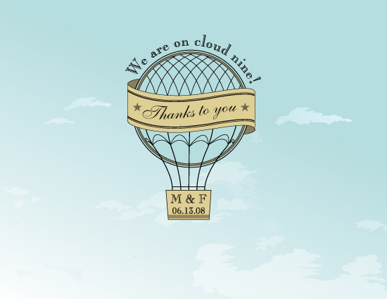 thank you cards - On Cloud Nine! by Sandhya Rao