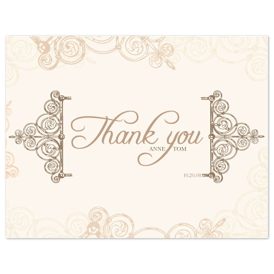 thank you cards - Fall Elegance by Puppy Love Design