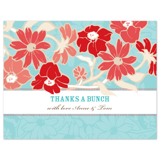 thank you cards - Thanks a bunch by Natalie Sullivan Graphic Design