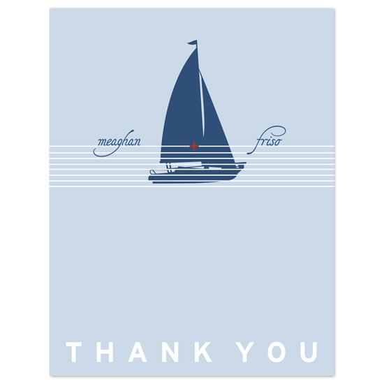 thank you cards - Sailing Together by wondereyes
