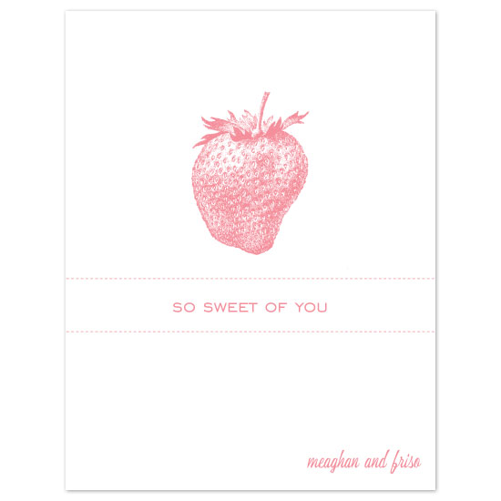 thank you cards - Sweet As Can Be by Orange Blossom Ink
