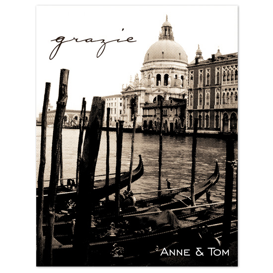 thank you cards - Venetian Postcard by Orange Blossom Ink