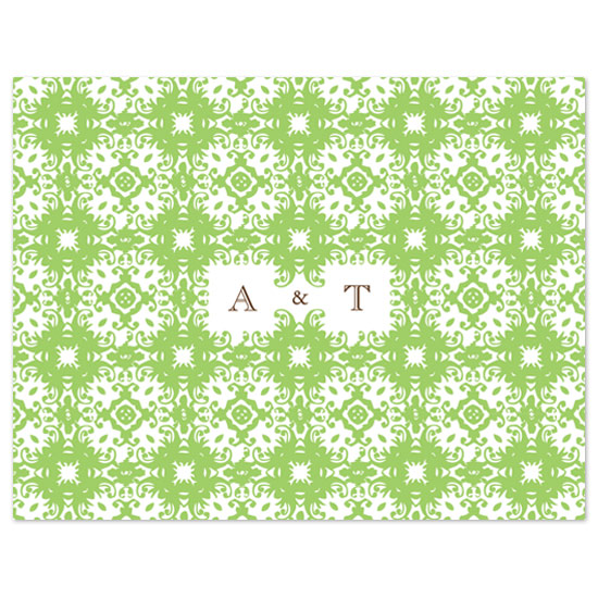 thank you cards - Italian pattern by Megan Irwin