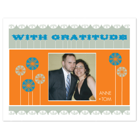 thank you cards - blue gratitude by pinkeye design