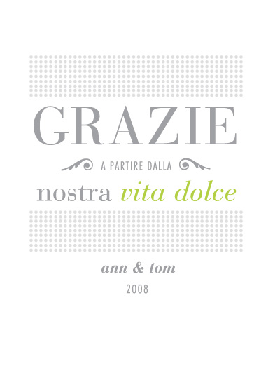thank you cards - dolce vida by Andrea Rodriguez