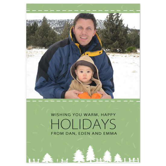 holiday photo cards - Happy Holidays by Eric, Birdseye Cards