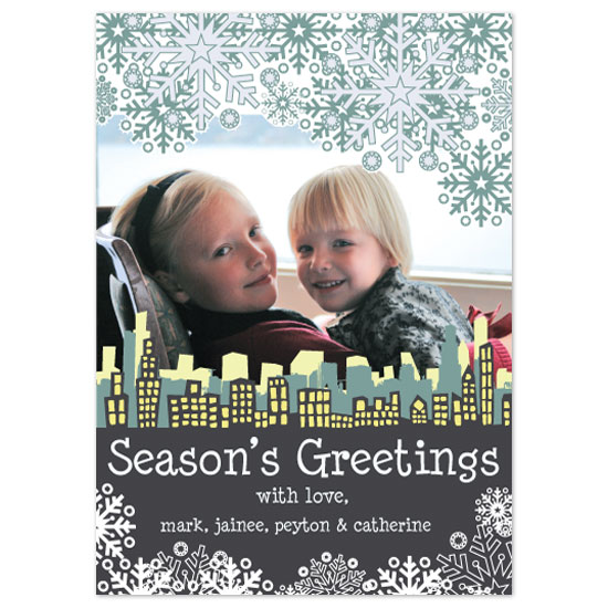 holiday photo cards - Windy City Wishes by Paper Stories