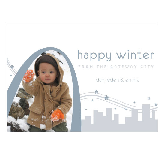 holiday photo cards - happy winter by Andrea Rodriguez