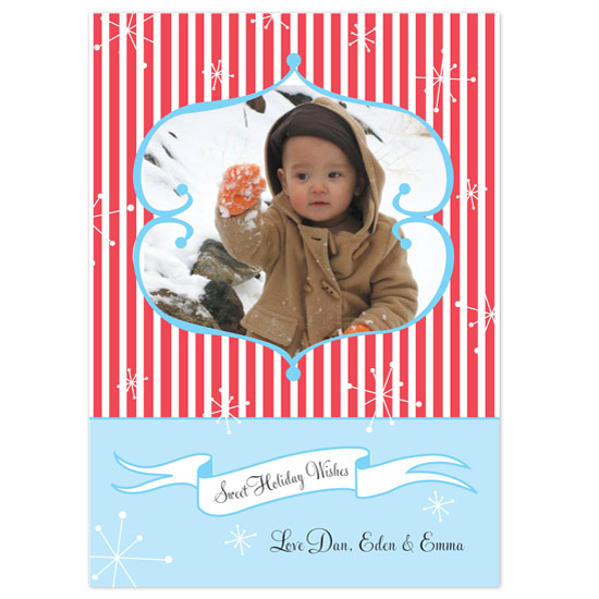 holiday photo cards - Candy Cane Dreams by Paper Stories