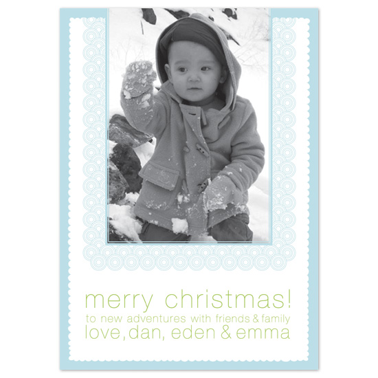 holiday photo cards - Snowy Holiday by Love Letters