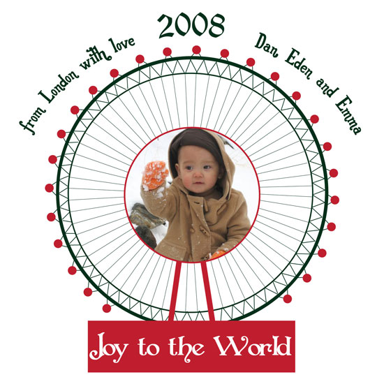 holiday photo cards - Joy All Around by Elsie Paper Atelier