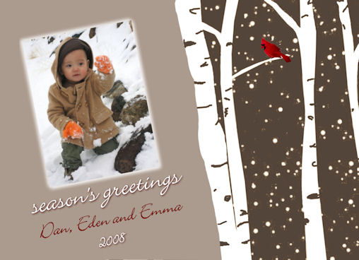 holiday photo cards - Snow Covered Birch Trees by Grafik Expressions