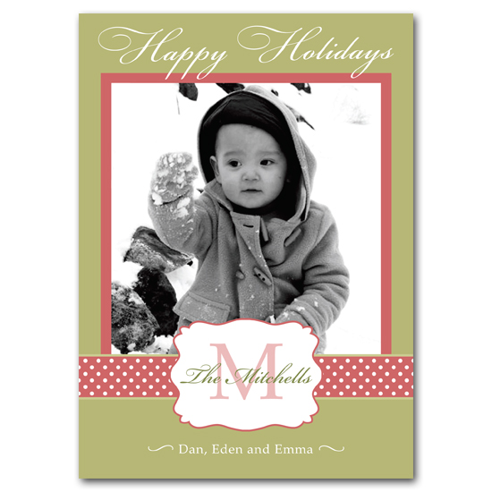 holiday photo cards - Preppy Monogram by Carrie Eckert