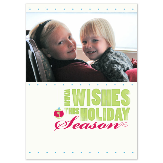 holiday photo cards - warm wishes by Orange Blossom Ink