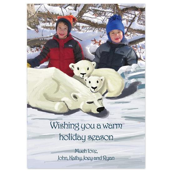 holiday photo cards - Warmest Wishes by Ri.S.K./Little Yeti