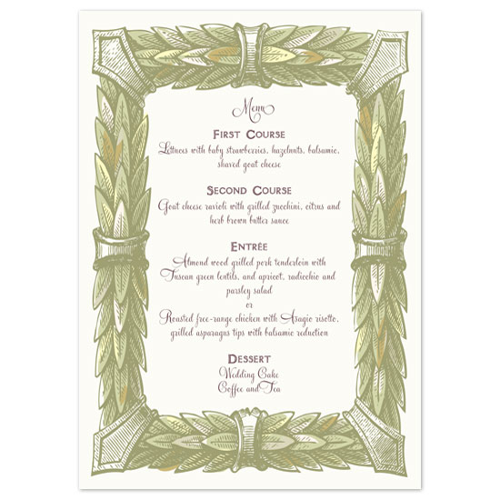 menu cards - Grace by Paper Stories