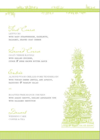 menu cards - Verdant Oasis by Sandhya Rao
