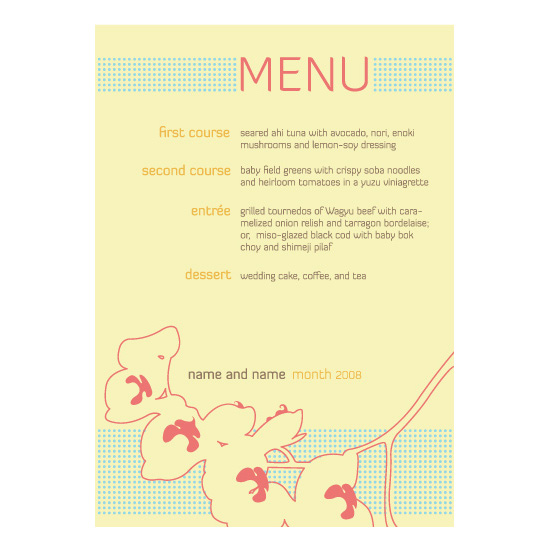 menu cards - warm orchids by Andrea Rodriguez