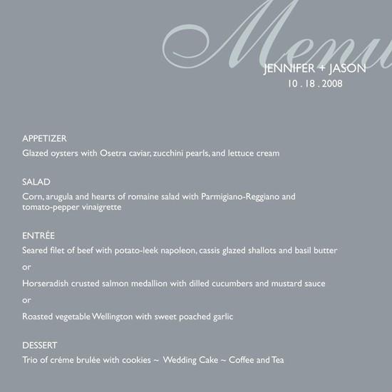 menu cards - modern & chic by Posh Peacock