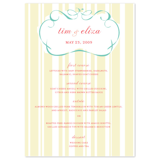 menu cards - Freestyle Frame by Sarah Pattison