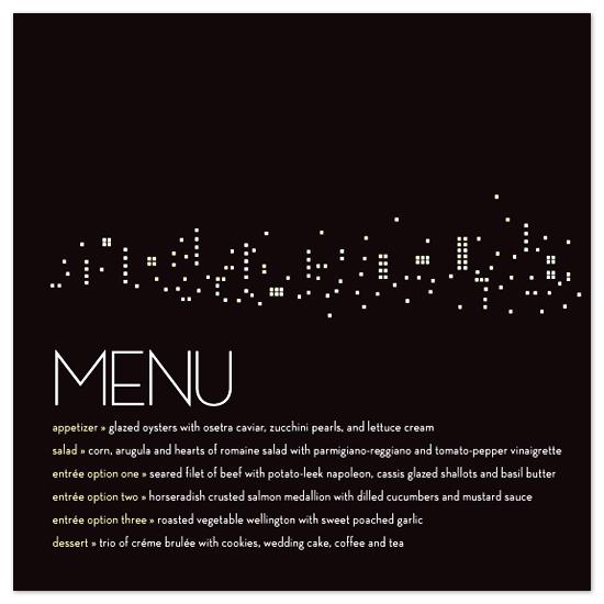 menu cards - Night lights by sweet street gals