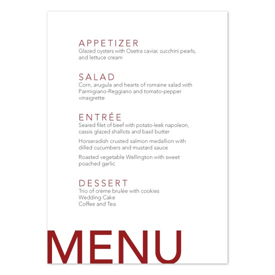 menu cards - Modern Metro by Linzmarie Designs