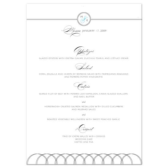 menu cards - Hudson by Ann Rae Creative