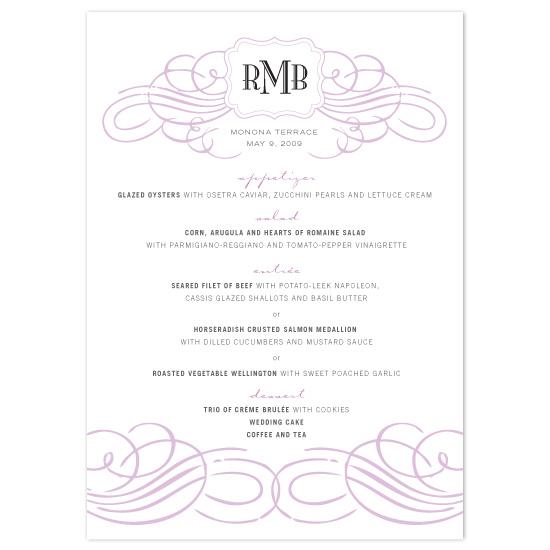 menu cards - City Chic by Orange Blossom Ink