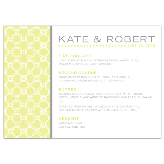 menu cards - Fresh Ink by Orange Blossom Ink