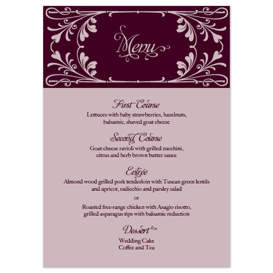 menu cards - Victorian Garden by sarasponda