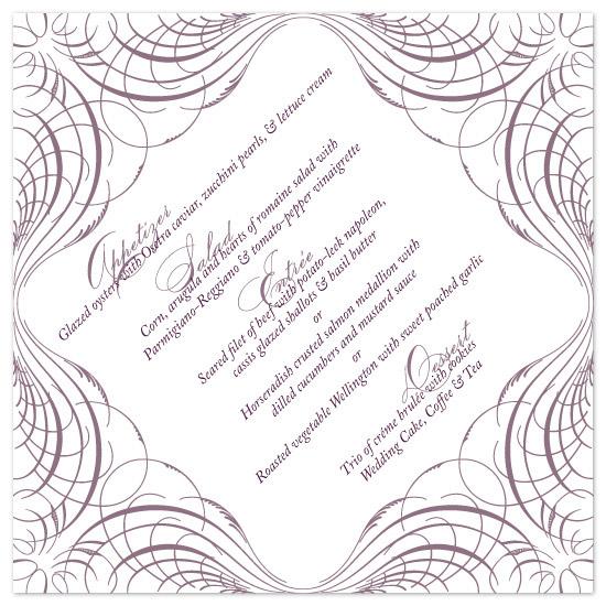 menu cards - Calligraphic by sarasponda
