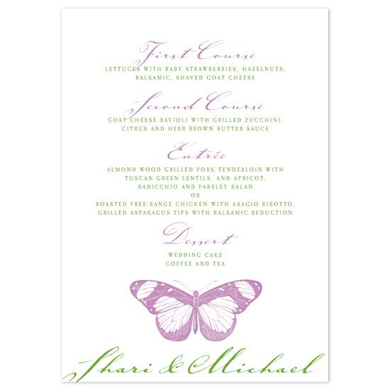menu cards - Butterfly Garden by Tara Hanneman