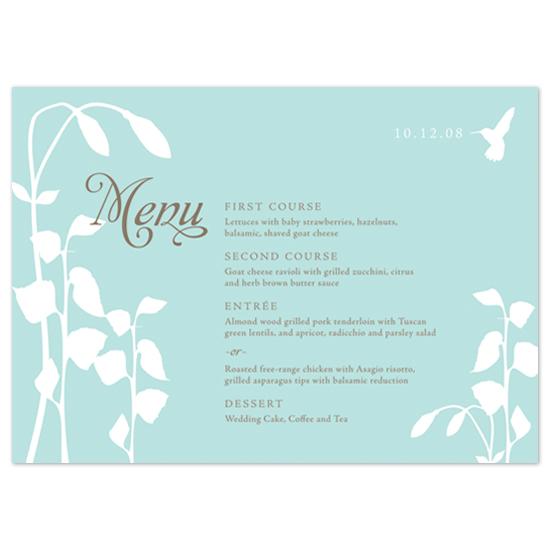 menu cards - garden silhouette by Megan Irwin