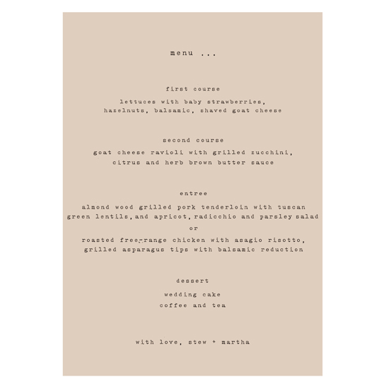menu cards - typewritter by .cevd.