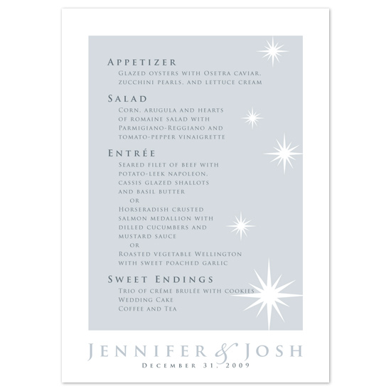 menu cards - Sparkle by Tara Hanneman