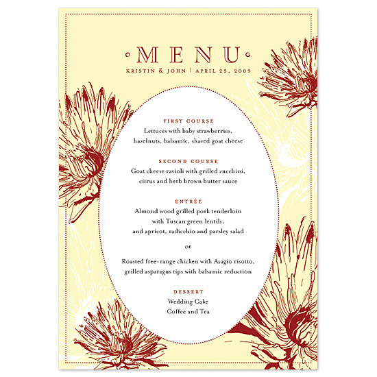 menu cards - Spring Lily by Sweet Paper Studio