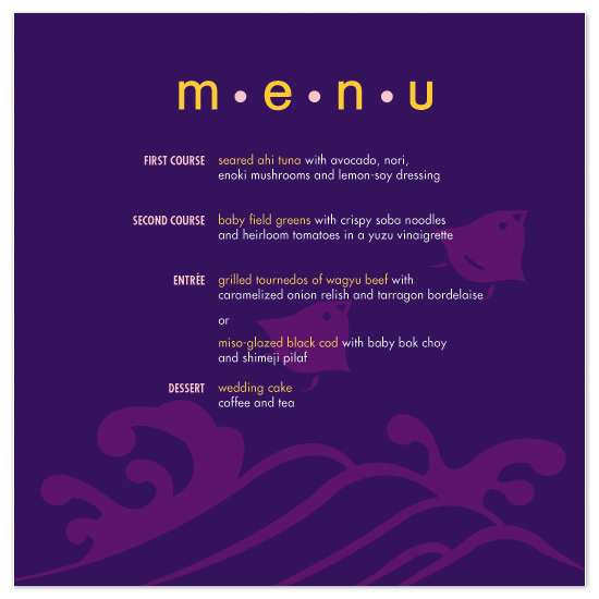 menu cards - Flight Delight by Chamelle Designs