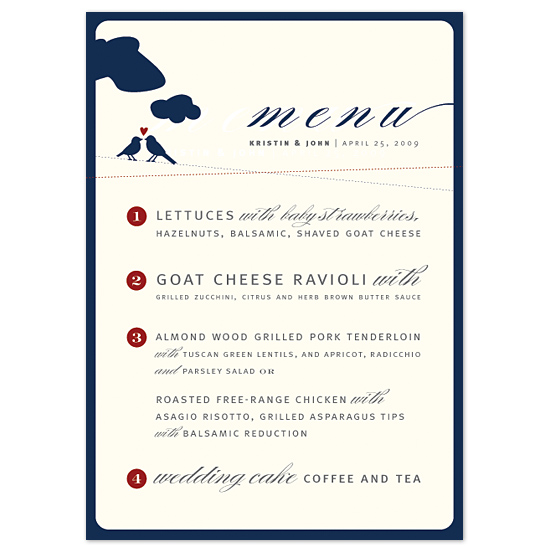 menu cards - Sweet Whimsy by Sweet Paper Studio
