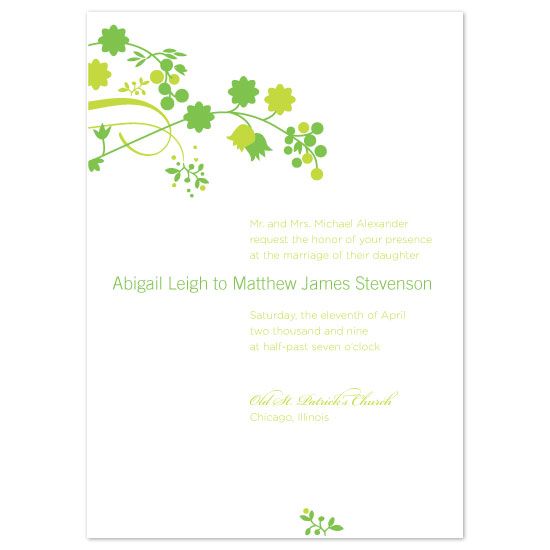 wedding invitations - May Flowers by Peculiar Pair Press
