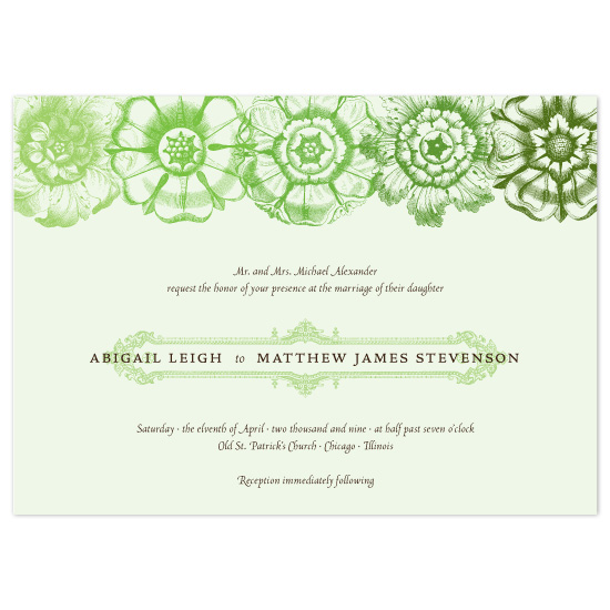 wedding invitations - Shades of Flora by Sarah Pattison