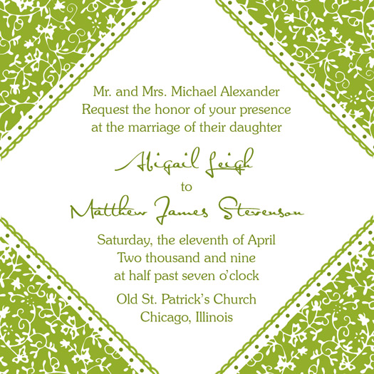 wedding invitations - Green Corners by PaperDahlCreations