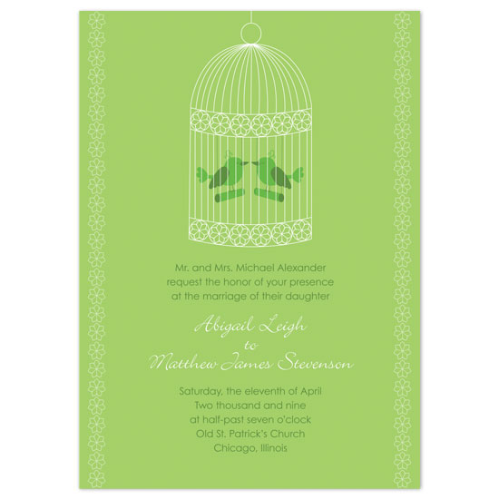 wedding invitations - Love Birds by Letter19Design