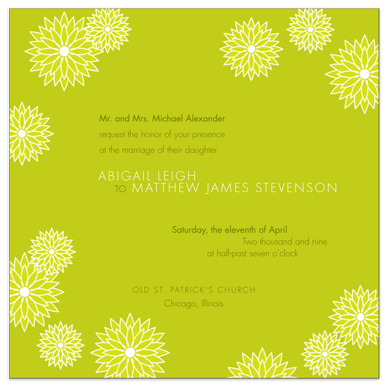 wedding invitations - modern flowers by papermoon