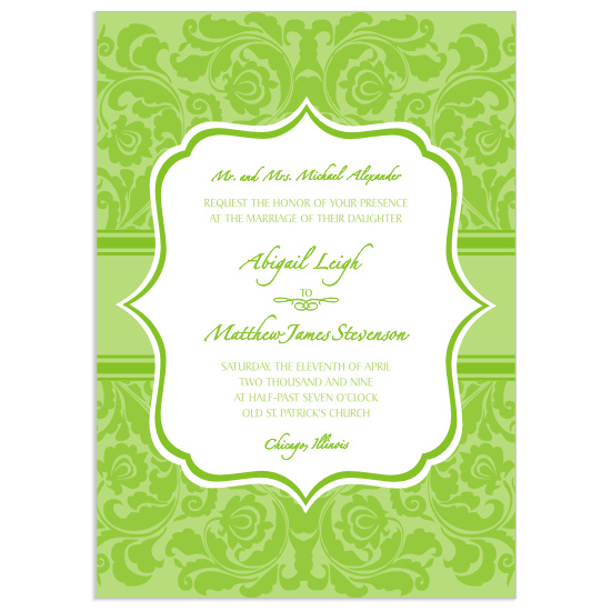wedding invitations - Moda Flora by Mrs. Kim